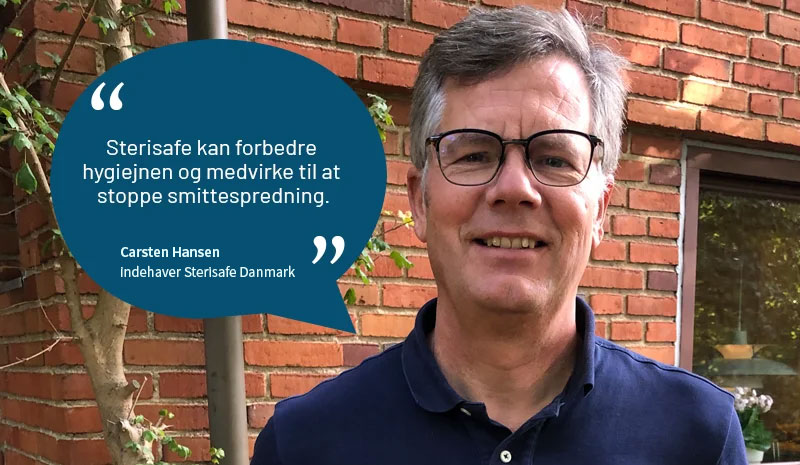 Carsten Hansen, indehaver Sterisafe Danmark